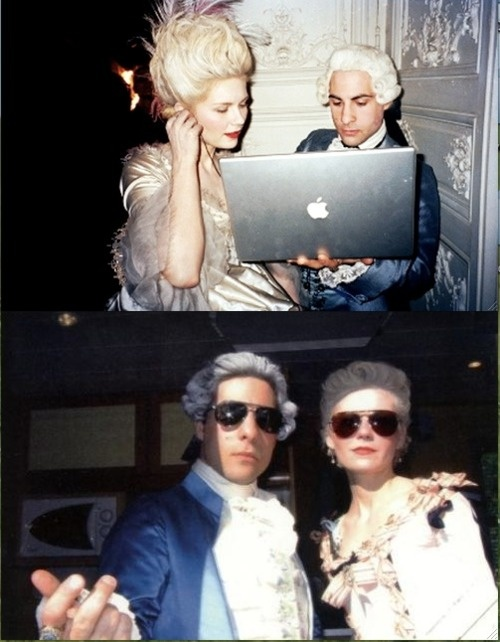 Kirsten Dunst and Jason Schwartzman behind the scenes, Marie Antoinette