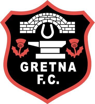 GRETNA FC  -  old logo  demise  1946 / 2008