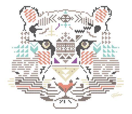 Work in progress, une série d'animaux/ géométriques en po...
