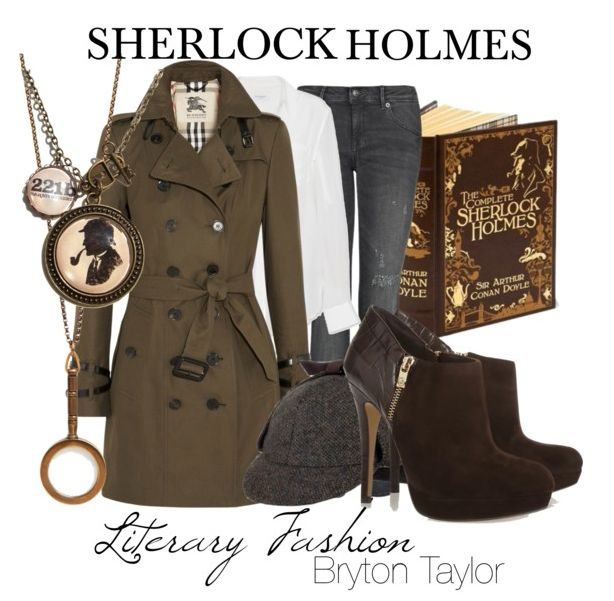 Literary Fashion | Sherlock Holmes via BrytonTaylor.com Cute! (Heels are a bit high though...) #bookishlife
