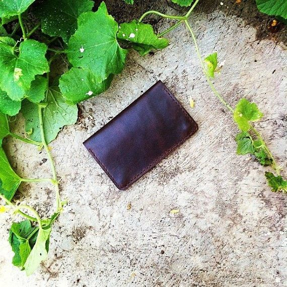 Wallet for iPhone and Passport (Color Dark Brown)
