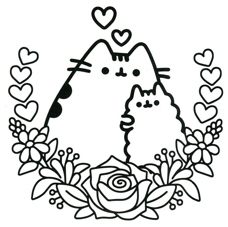 Image result for pusheen coloring page