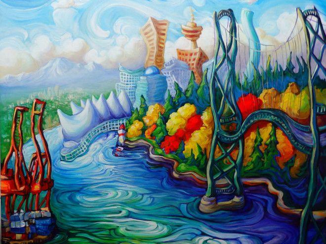 Bright Sea Bold City