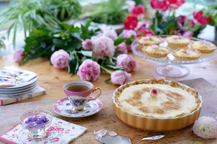 Zoete melktaart voor bij een high tea