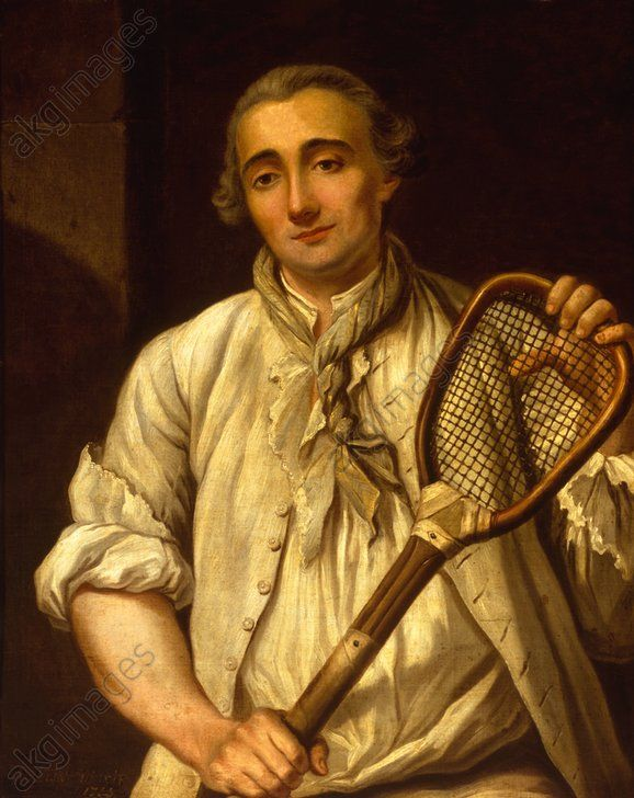 Guillaume Barcellon, royal Paume (tennis) player under Louis XV, 1753 by Etienne Loys (1724-1783)