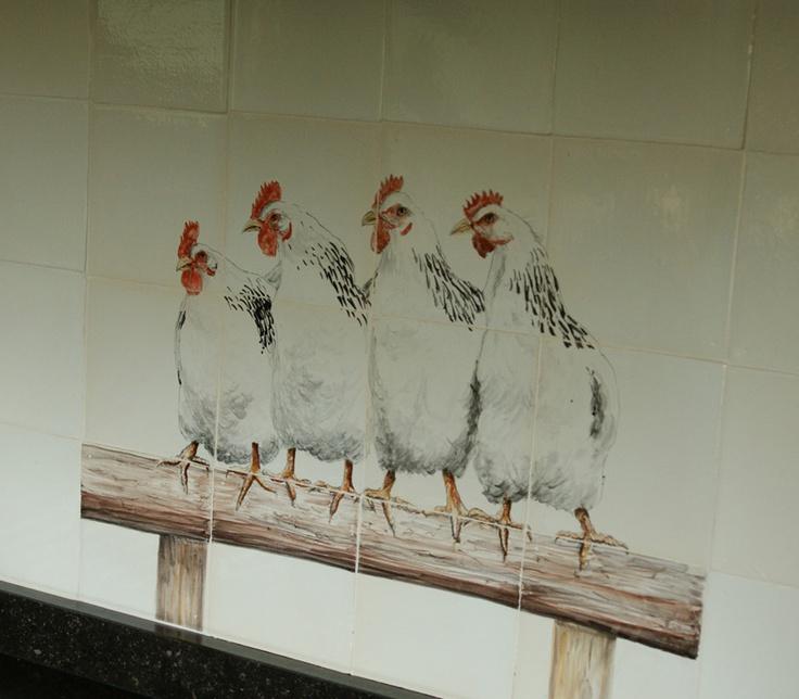 ambachtelijk geschilderde oude witjes FRIEStile http://tegels.nl/6455