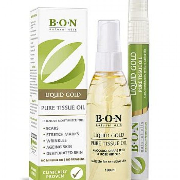 B.O.N Liquid Gold is a non-greasy natural oil spray can be used on both the face and body, and has an all-over hydrating and healing effect, leaving skin silky smooth. It boasts unique skin healing, anti-inflammatory, anti-aging, and moisturising properties that helps severe eczema, burns, scars, dry and flaky skin, stretch marks, pigmentation, and even acne.