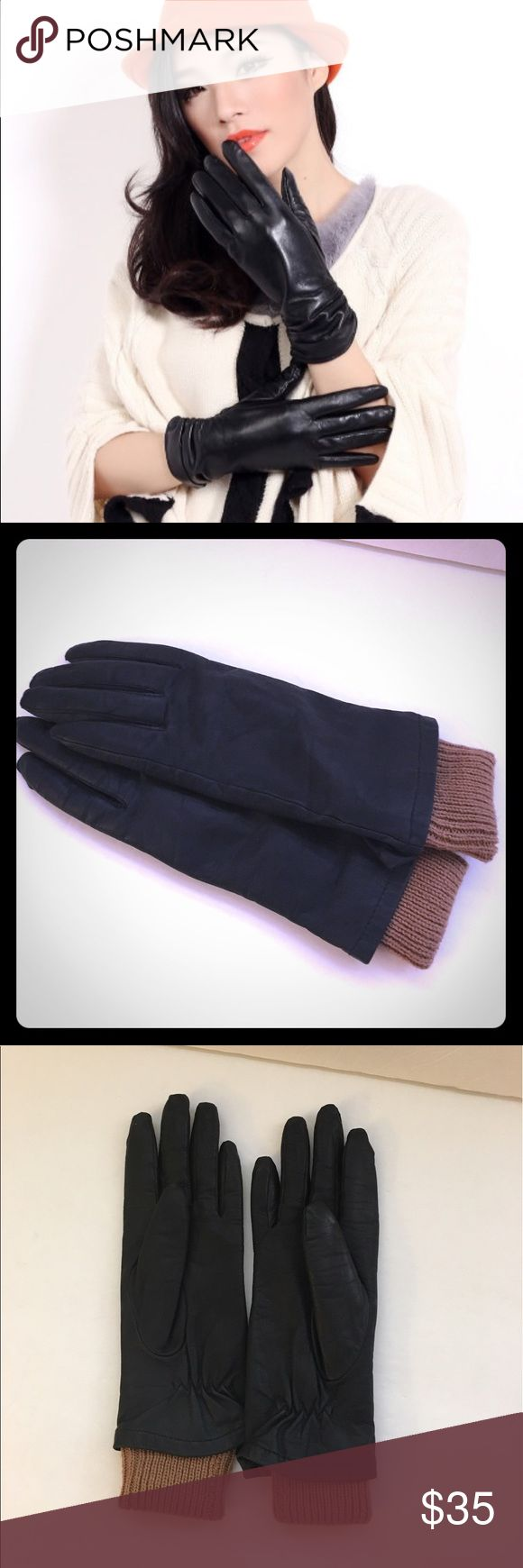 John lewis ladies black leather gloves - Fownes Black Leather Gloves