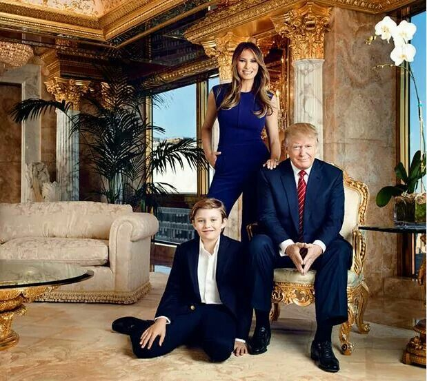 President Trump, Melania and Barron