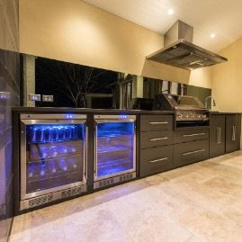 Contemporary Outdoor Kitchen with Beefeater BBQ