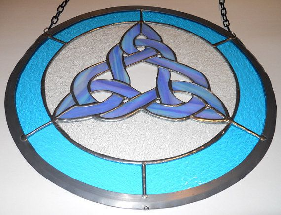 Iridescent Celtic Knot Panel by artophile on Etsy