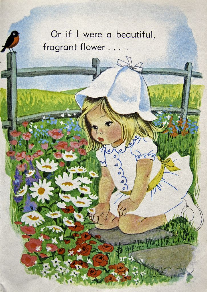 """from a 1966 children's book, """"I'm Suzy"""". Illustrations by Alice Schlesinger."""
