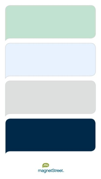 Celadon, Ice, Silver, And Navy Wedding Color Palette   Custom Color Palette  Created