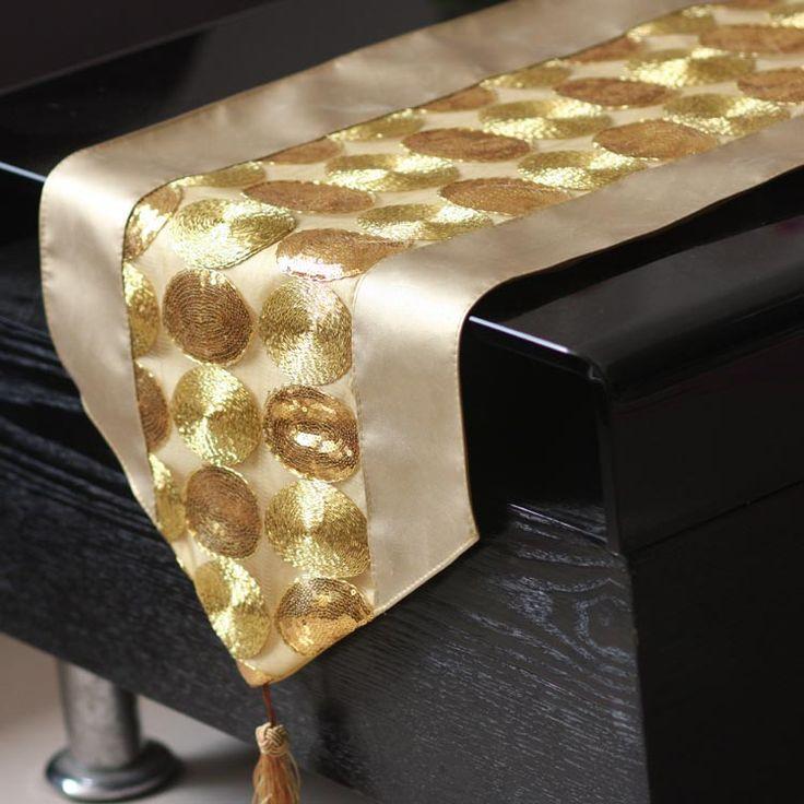 camino de mesa dorado navidad - Buscar con Google