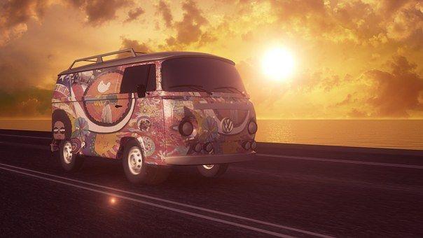 Hippie, Volkswagen, Van, Vw