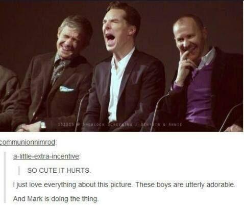Sherlock cast being the Sherlock cast