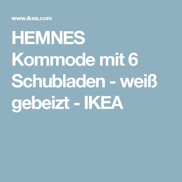 Hemnes Kommode Ikea Weiß Gebeizt ~ HEMNES Kommode mit 6 Schubladen  weiß gebeizt  IKEA