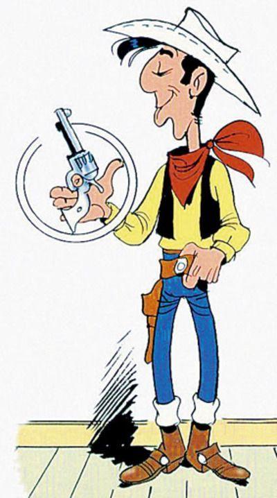 Dessin en couleurs à imprimer : Personnages célèbres - Bandes dessinées - Lucky Luke numéro 9755