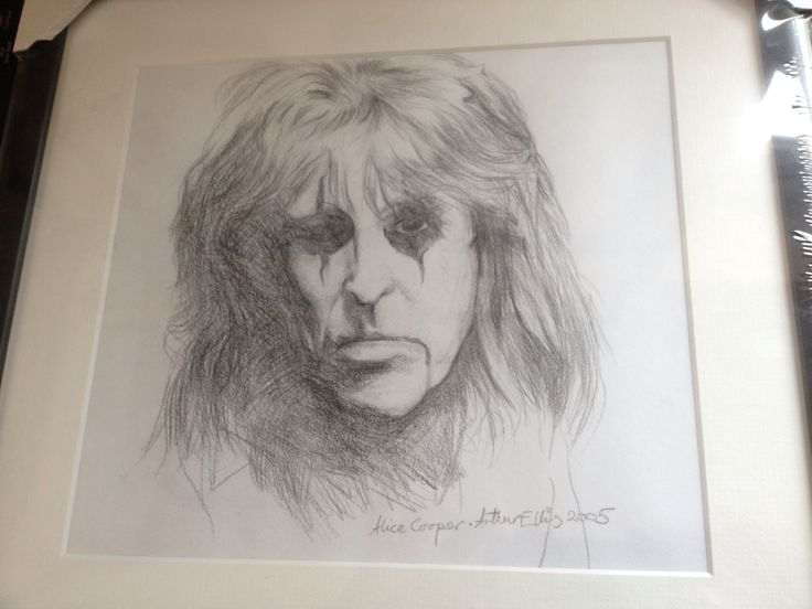 Alice Cooper pencil #drawing by Arthur Ellis before he went #blind - follow his FB page for update! www.forartssake.co.uk: Cooper Pencil, Artwork Pre Sightloss, Ellis S Artwork, Arthur Ellis S, Pencil Drawings, Alice Cooper