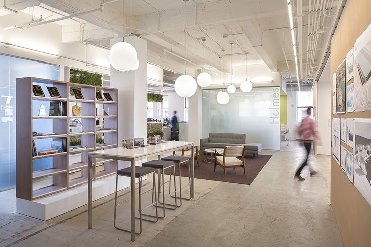 Polished Concrete Floors Are Used Throughout The San Francisco Office Of Holmes Culley