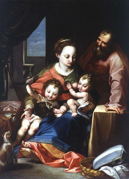 Scuola Emiliana - D`après Federico Barocci - La Madonna del Gatto.