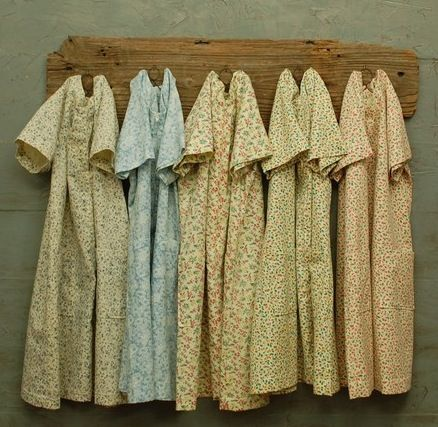 Dresses fashioned from old time feed sacks