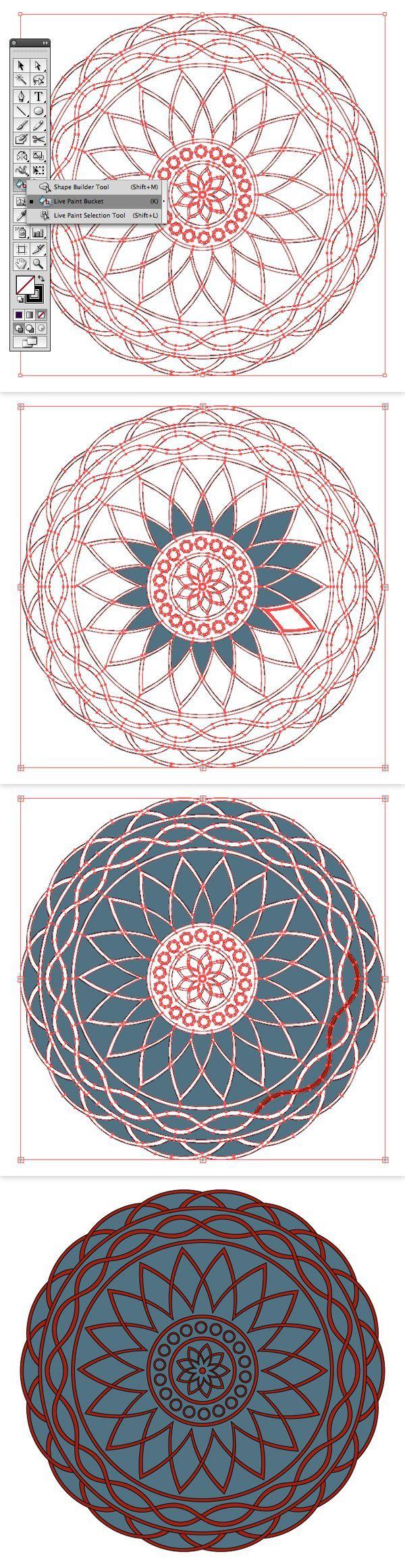how to create a mandala design