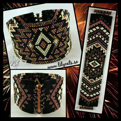 Peyote armband, mönster KikisBeadArt.  #armband #smycken #pärlor #delicabeads #peyotestitch #handgjordasmycken #handgjort #bracelets #bracelet #jewelry #handmade #beads