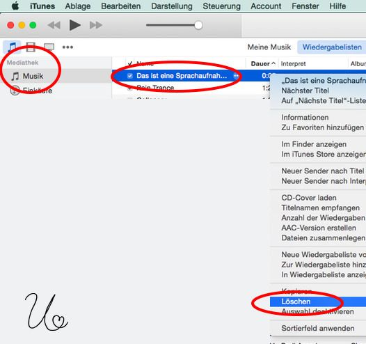 https://flic.kr/p/uCDnG7 | -iTunes-SongTitelSprachmemo-löschen | MacTipp: Song, Titel oder Sprachmemo aus iTunes löschen