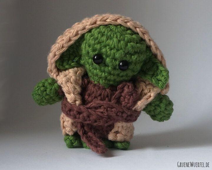 Yoda (Star Wars) als Amigurumi