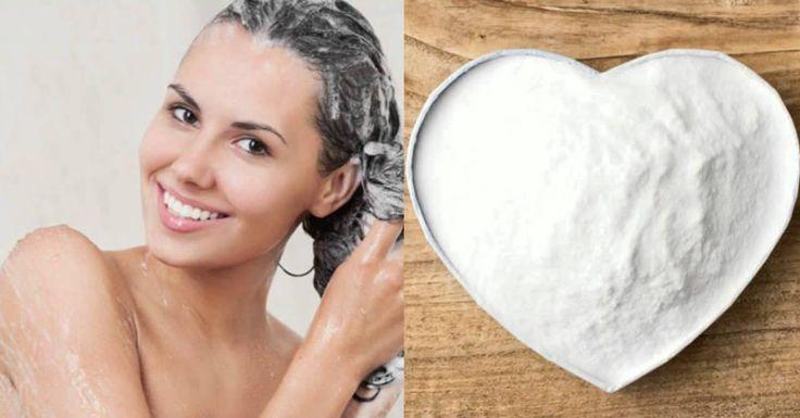 Champú natural con bicarbonato de sodio para potenciar el crecimiento del pelo