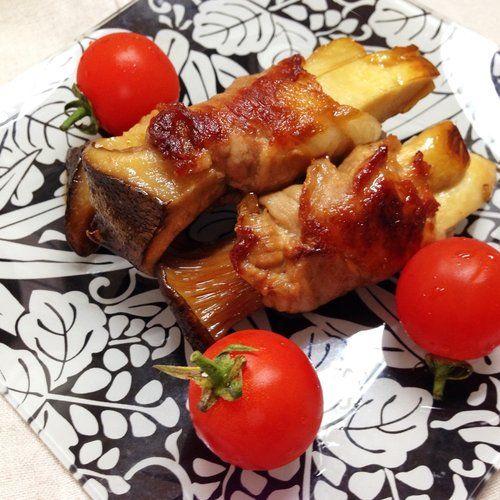 父の日にヘルシー肉メニュー!「エリンギの豚肉巻照り焼き」の作り方   nanapi [ナナピ]