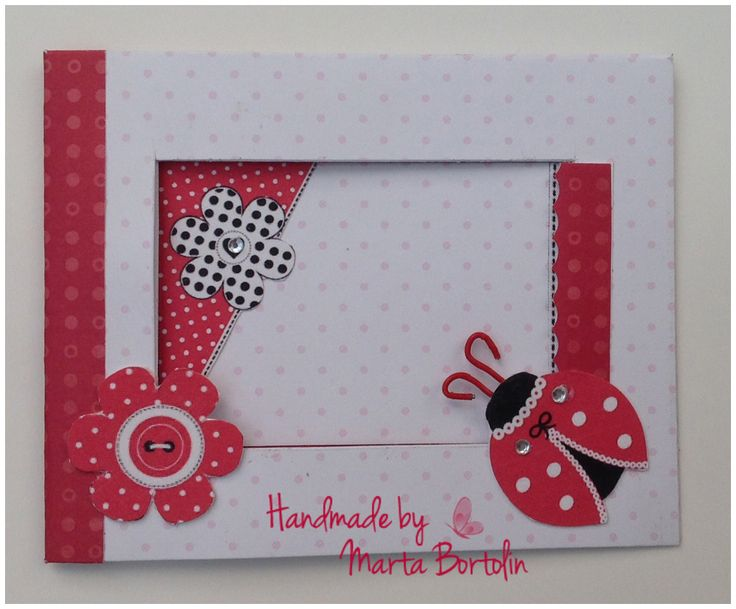All occasion card, patterned paper,  ladybug sticker with rhinestones.