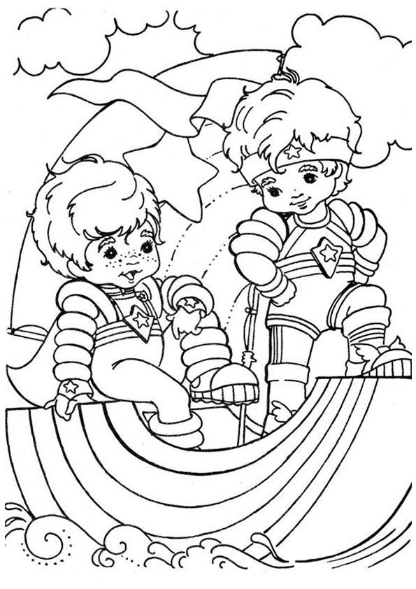 7 best Coloring Crafts images on Pinterest Vintage coloring books - best of coloring pages of rainbows to print