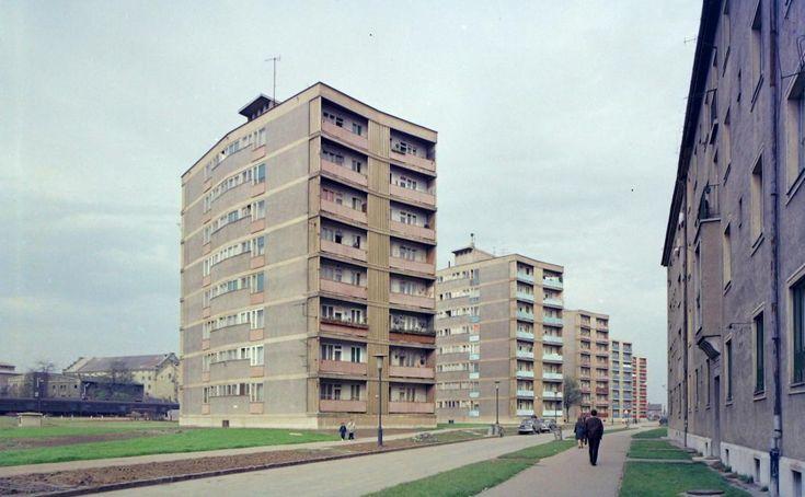 Kőrösi Csoma Sándor utca a Bajcsy Zsilinszky utca felől nézve. 1966