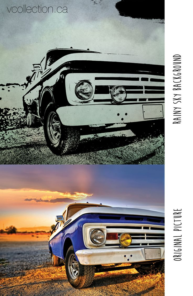 vcollection.ca: Here is a perfect example for Father's Day! The original truck picture work's well since the subject is mostly to the right we don't loose anything when we crop it down to the required square. (This example refers to vcollection's inkscape canvas)