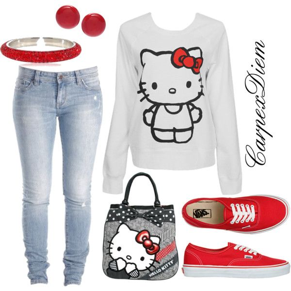 Hello Kitty <3, created by carpexdiem on Polyvore