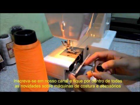 Máquina de Costura Doméstica com Fio de Overlock na Bobina - YouTube