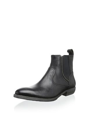 52% OFF Andrew Marc Men's Chelsea Zip Boot (Black/Deep Natural)