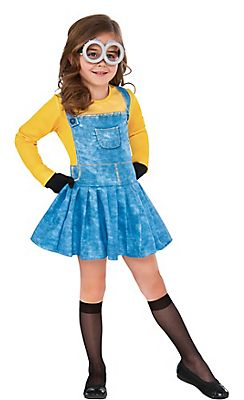 Toddler Girls Minion Costume - Minions Movie @ Party City