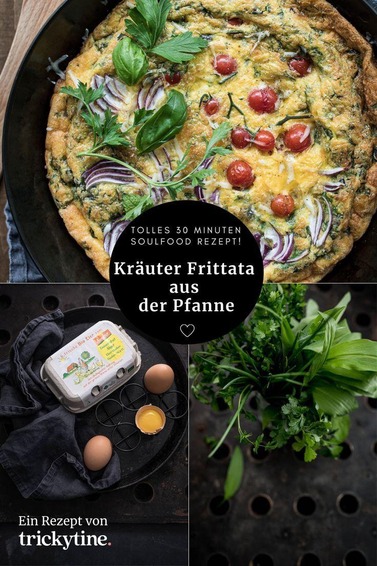 Leckere Krauter Frittata Aus Der Pfanne Tolles 30 Minuten Soulfood Rezept Trickytine In 2020 Rezepte Frittata Rezepte Frittata