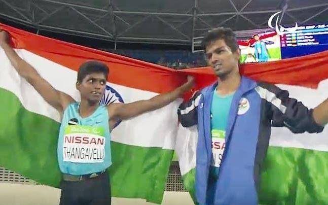 India's Mariyappan Thangavelu wins gold, Varun Singh Bhati clinched bronze in high jump at #Rio Paralympics 2016  #India #Mariyappan #Thangavelu #gold #VarunSinghBhati #RioParalympics2016