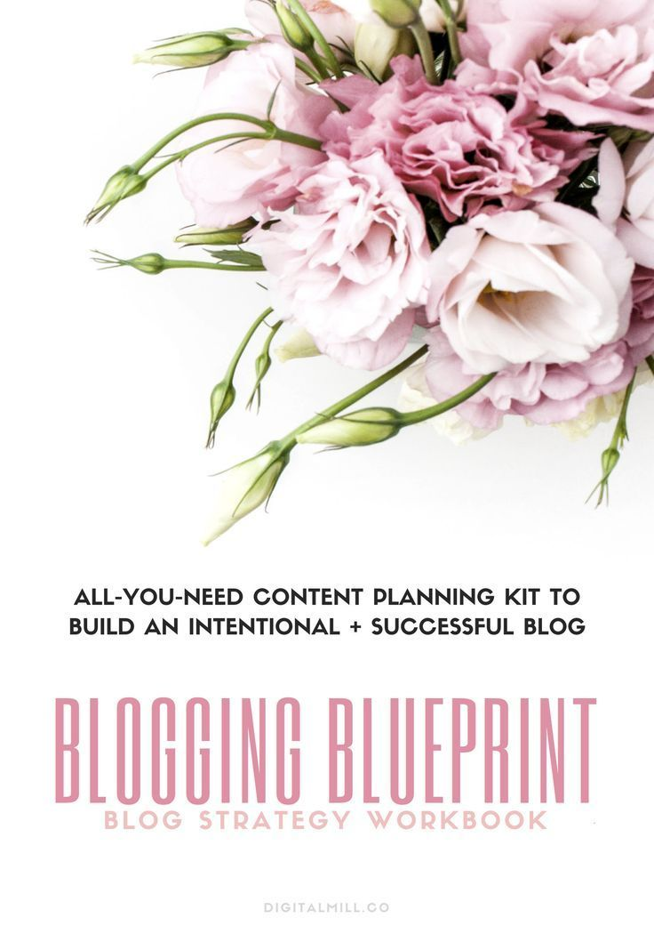 Blog content planning workbook for a blog strategy and a content plan for your online business #blogstrategy #blogging #contentmarketing