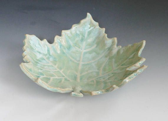 Unusual Leaf Bowl Handcrafted and fired in a Beautiful