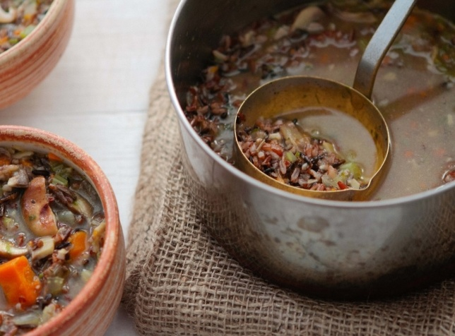 wild rice and mushroom # soup from a thought for food sub olive oil ...