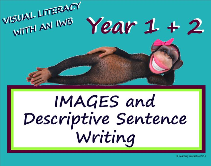 This Year 1 & 2 unit of work contains a 48 page SMART Notebook comprised of modelled, guided and independent activities designed to assist students to write a quality descriptive sentences using images as inspiration.  Blank templates are included in the SMART Notebook to allow you to use images of your choice for the activity. Worksheets and detailed teacher notes have also been included.  $25.00