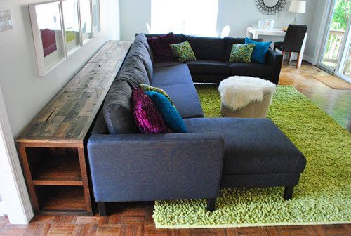 How To Build A Console Table It S Done Diy Sofa Table Diy Sofa Home Living Room