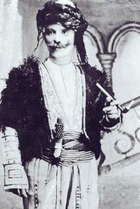 Kurdish Man with a Pipe and a Dagger that winding prise upon. ➡ https://m.facebook.com/KurdishPortraits/?refid=13