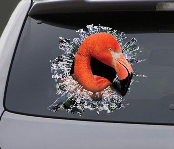 STICKER, Flamingo window sticker, car sticker, Flamingo