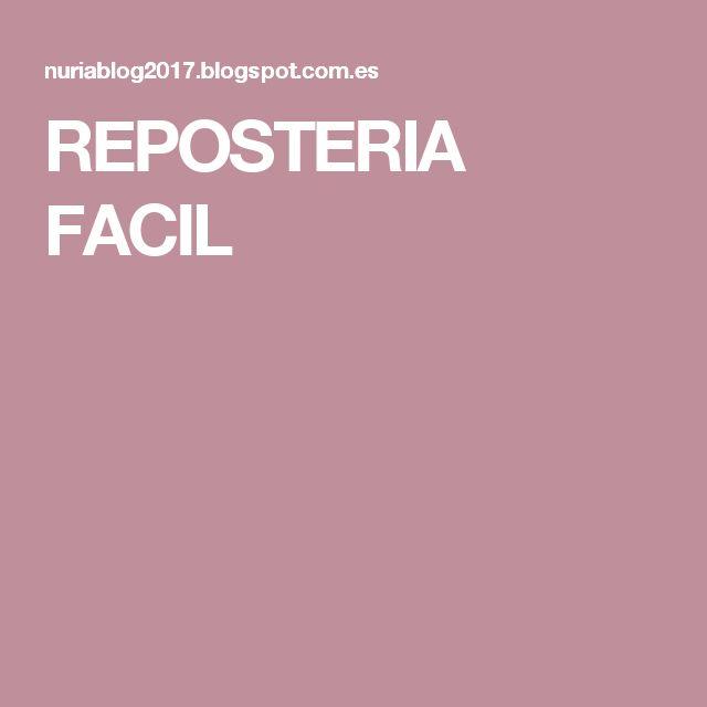 REPOSTERIA FACIL